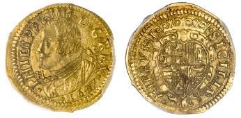 Naples, Filippo di Spagna(1621-1665). Scudo d'Oro