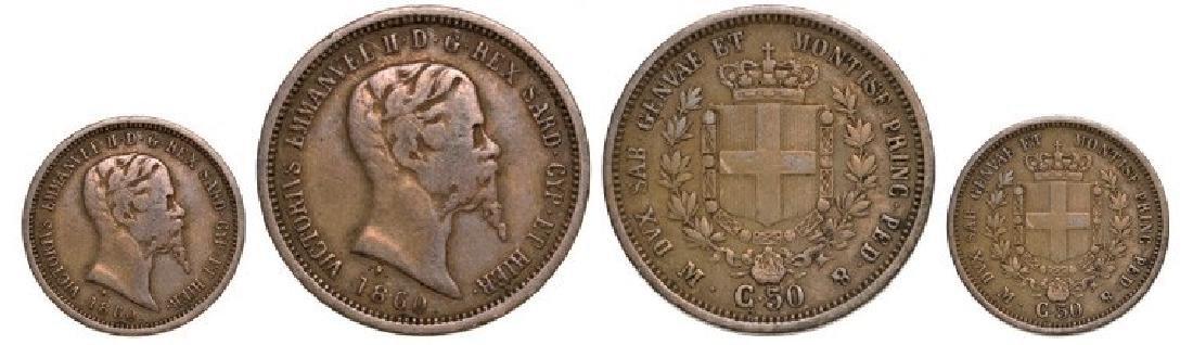 Vittorio Emanuele II (1861-1878), 50 Centesimi 1863 M,