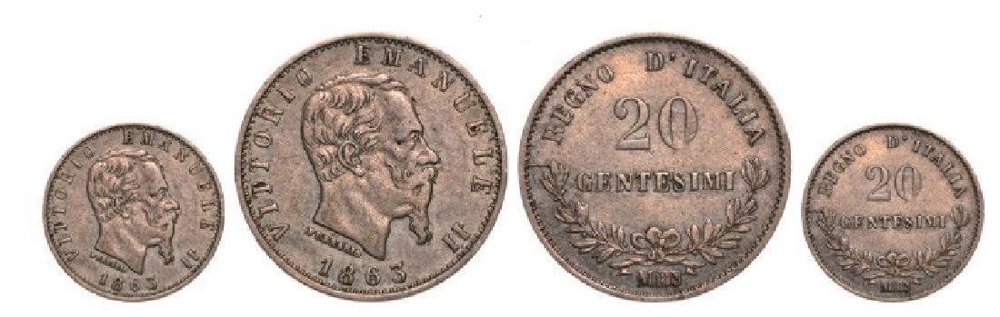 Vittorio Emanuele II (1861-1878), 20 Centesimi 1863