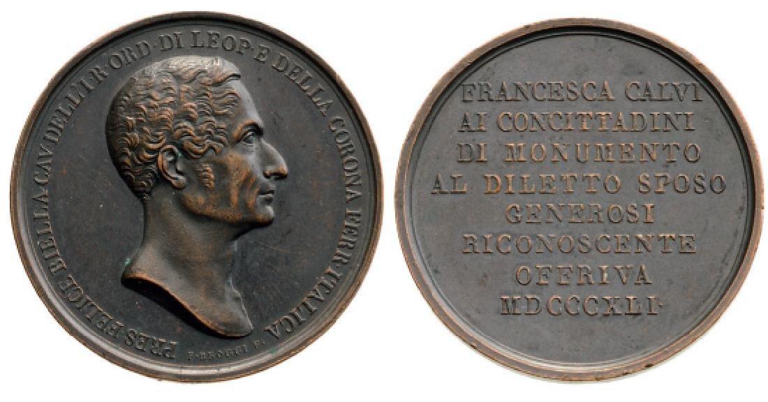 Felice BIELLA Commemorative Medal, 1841