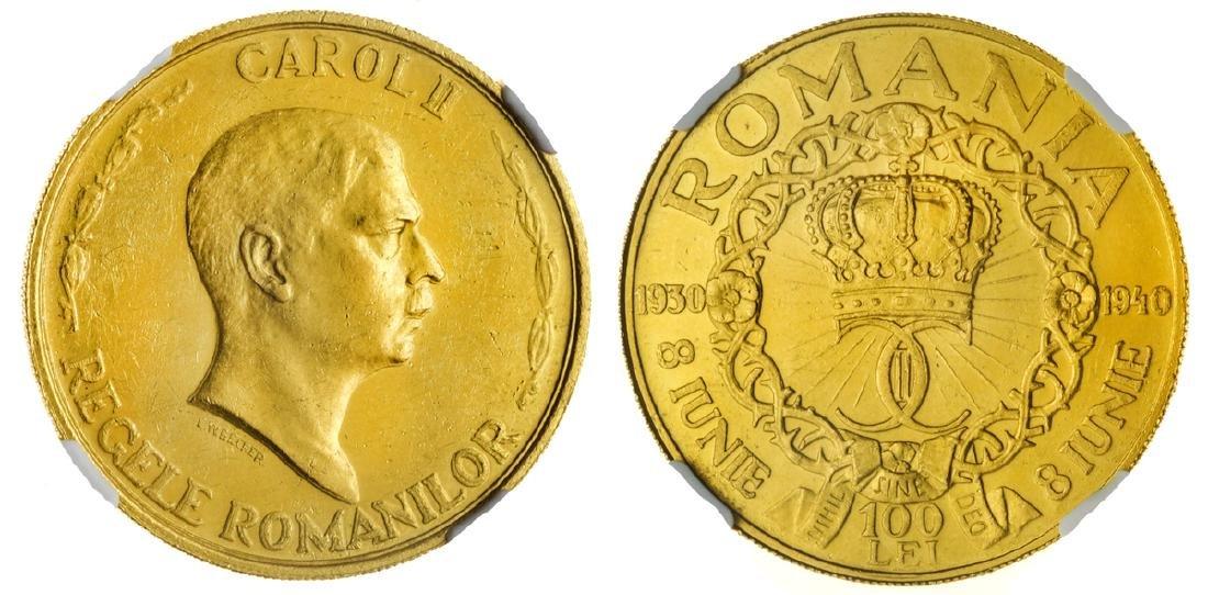 Carol II, 100 Lei 1940, GOLD, Bucuresti