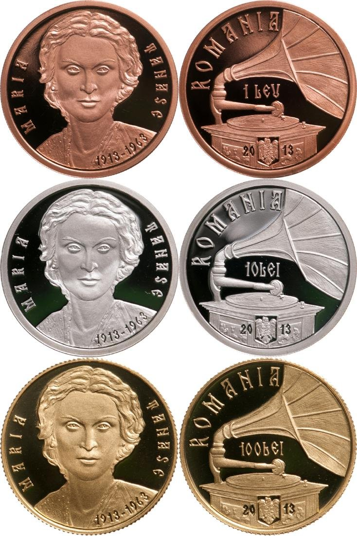 Set of 3 Coins dedicated to the 100th Anniversary of