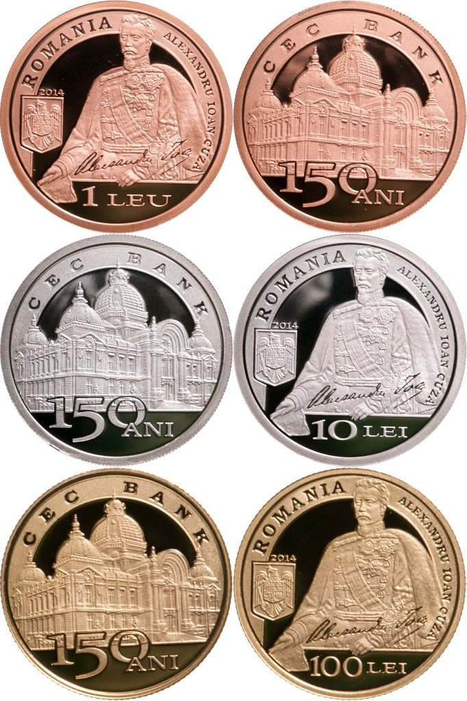 Set of 3 Coins dedicated to the Anniversary of 150