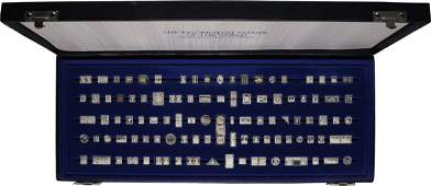 Franklin Mint Silver 100 Greatest Stamps of the World