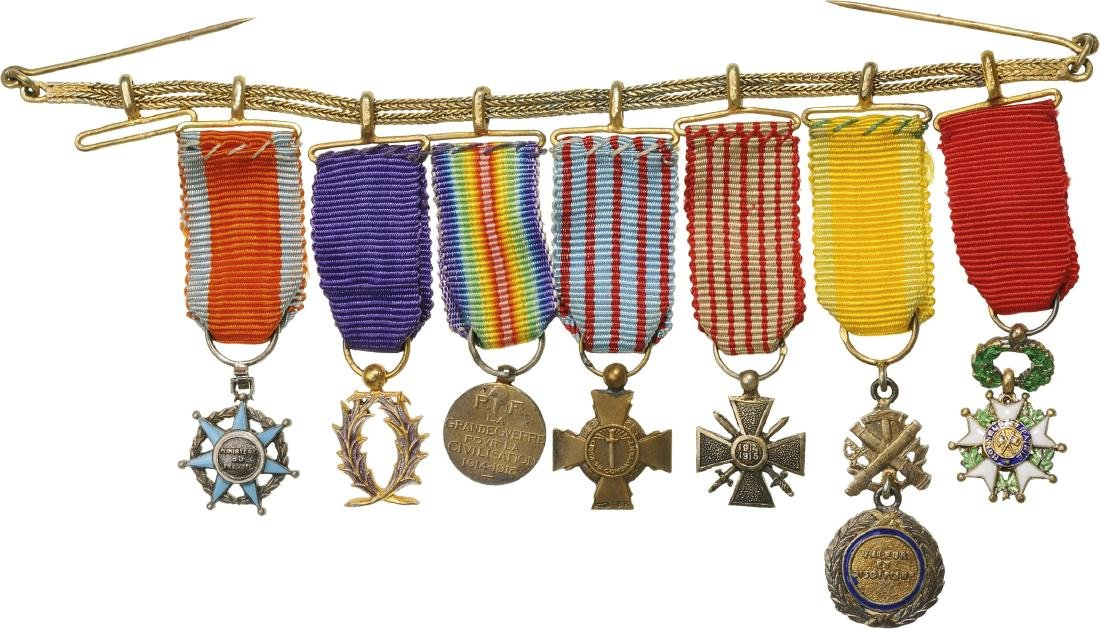 Chain of 7 miniatures, 3rd Republic (1870-1947)