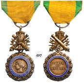 Military Medal 3rd Republic Luxury Model with Both