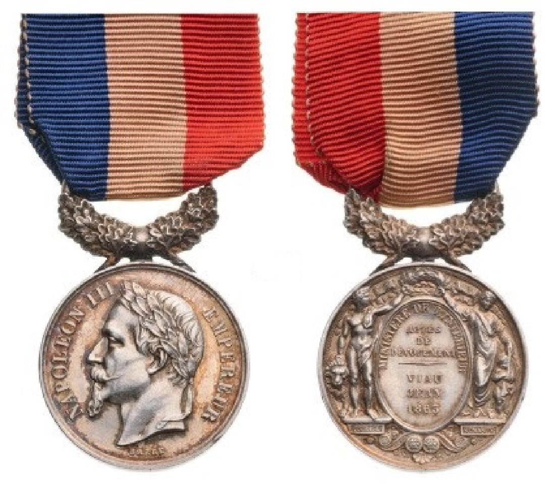 Life Saving Medal, 2nd Empire (1852), 2nd Class Silver