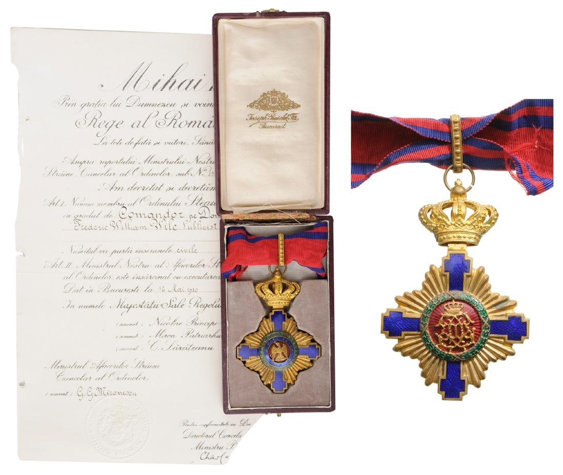 ORDER OF THE STAR OF ROMANIA, to an American Journalist