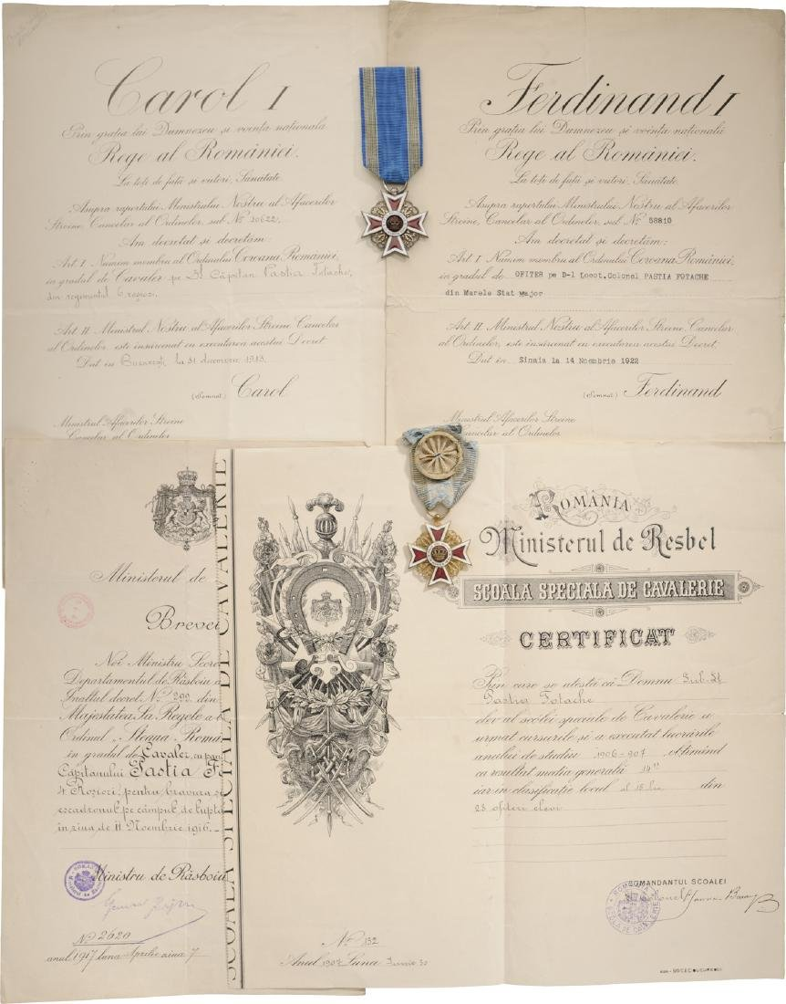 Personal Group of an Important Romanian Colonel from