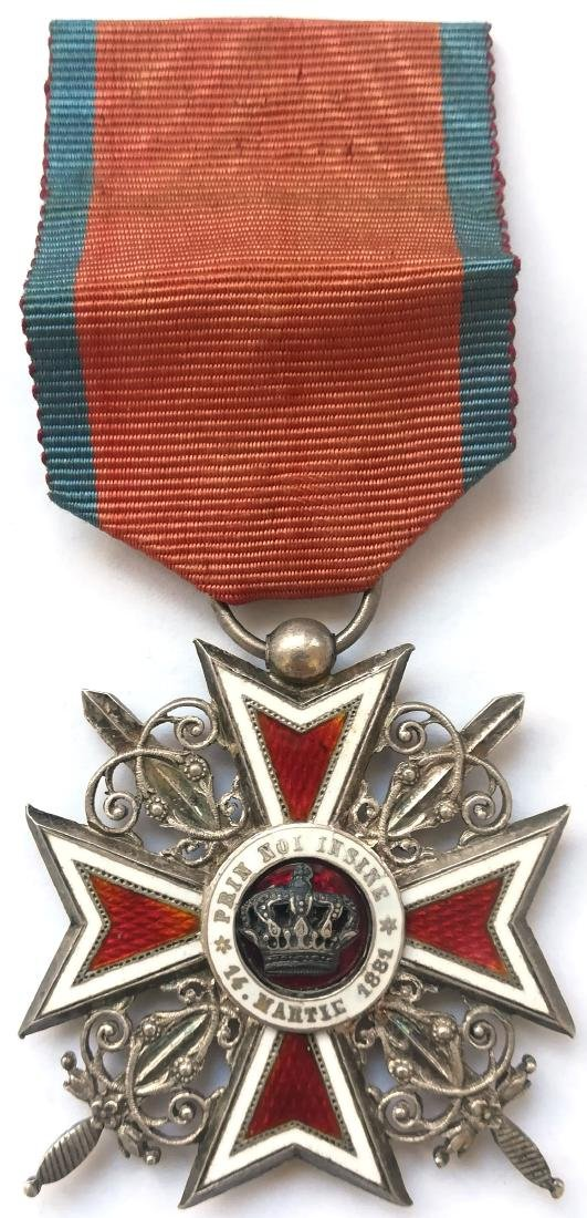 ORDER OF THE CROWN OF ROMANIA, to a Help-2nd Lieutenant