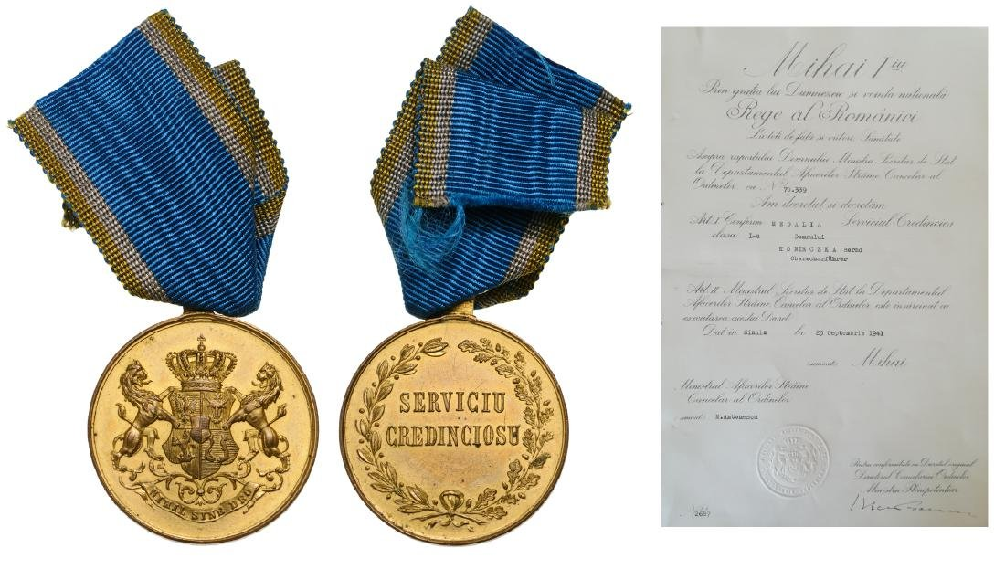 Medal of Faithfull Service, to a German SS,