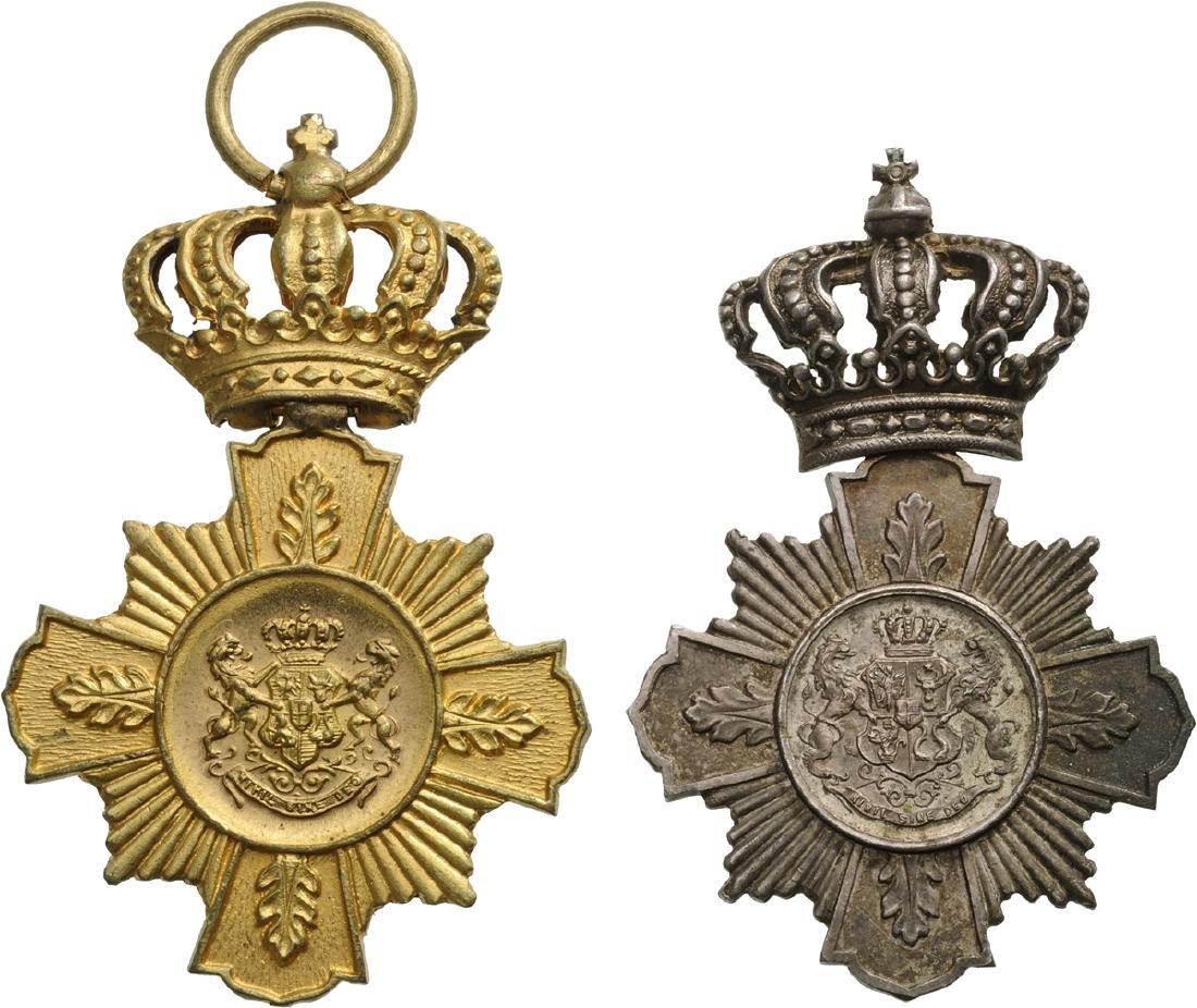 Set of 2. Cross of Faithfull Service, 1st Type, Civil,