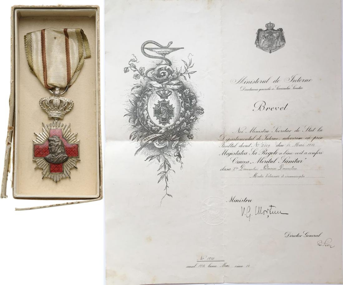 Sanitary Merit Medal, 2nd Class, 1913, to a Romanian