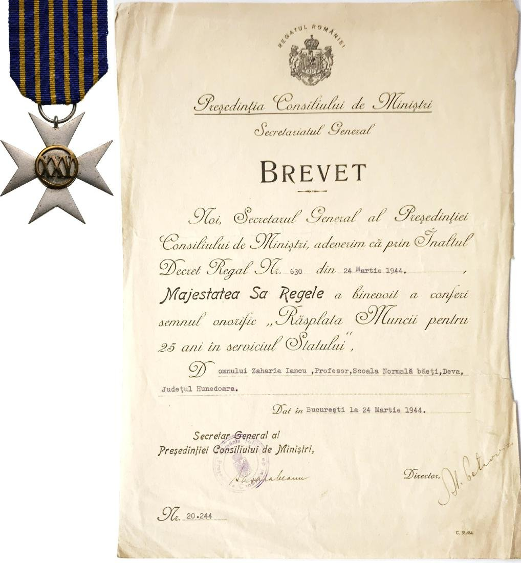Badge of Honor for 25 Years Civil Services to the