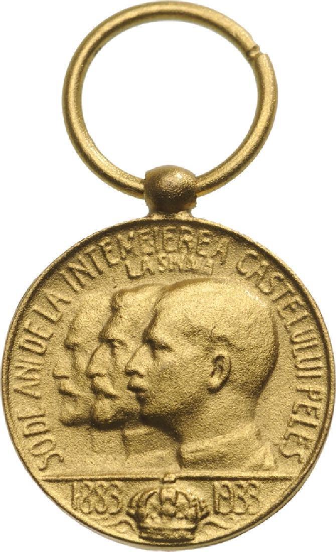 Medal of Peles Castle Miniature, 1933