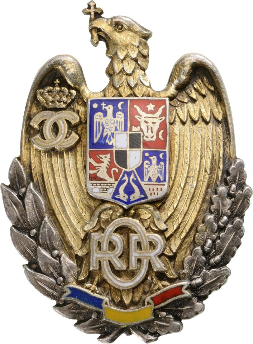 """Badge of the """"Reserve and RetirEd Officers"""", King Carol"""