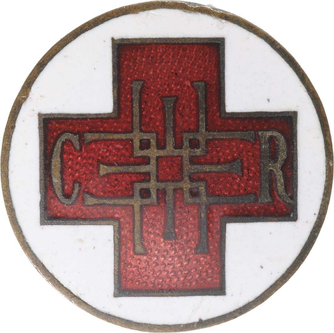 Badge of the National Society of the Red Cross, after