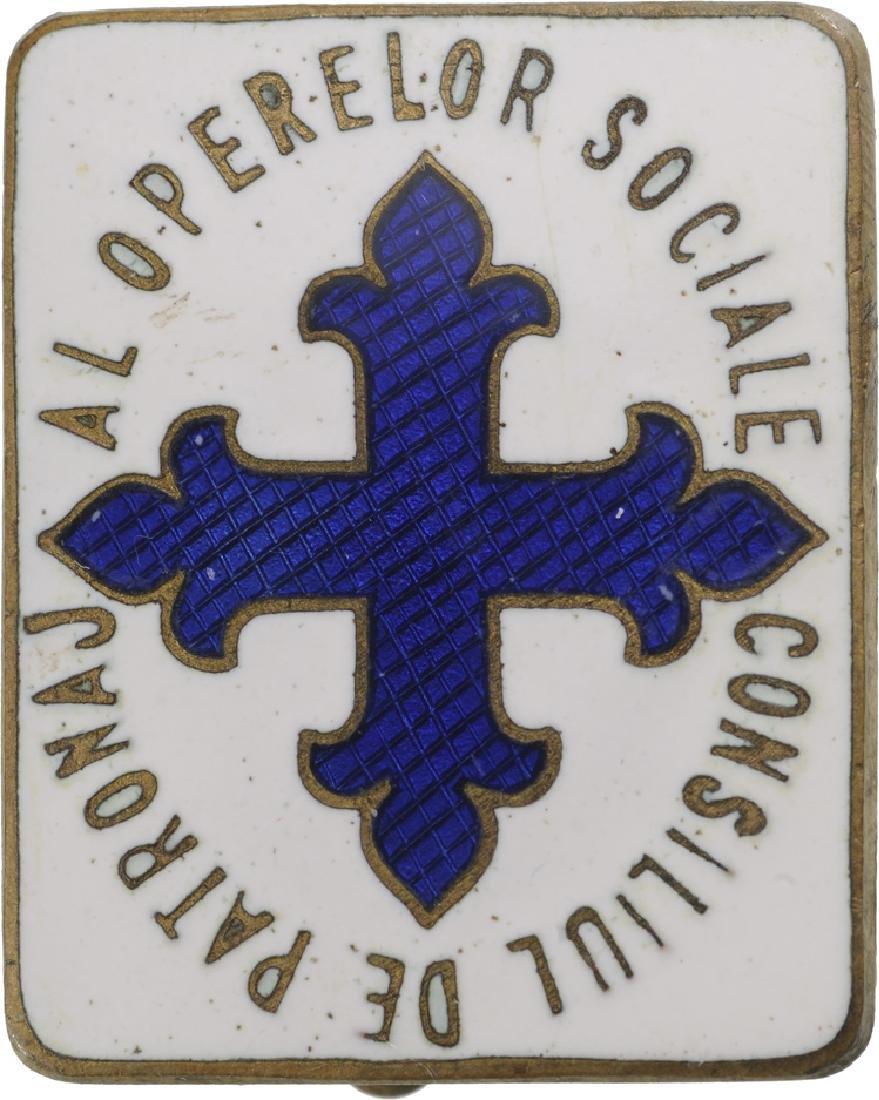 "Badge of the ""Council of Patronage"" for Social Works"