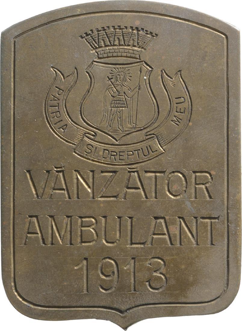Badge of Itinerant Salesmen, 1914