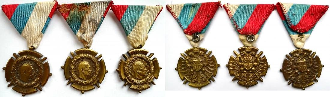 Lot of 3 Commemorative Medal for the War of 1914-1918,