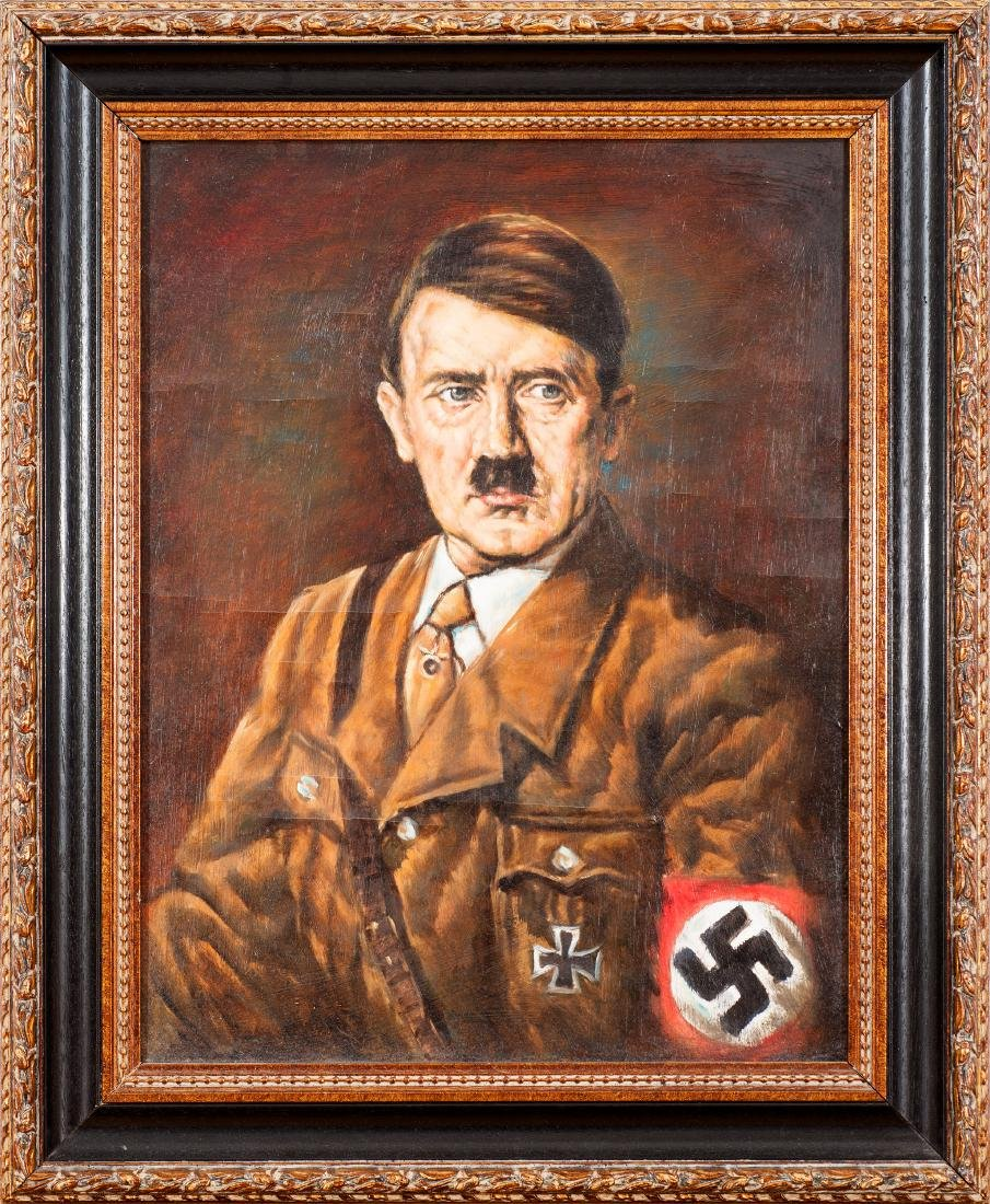 Oil on canvas representing Adolf Hitler (1889-1945),