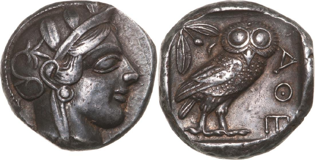 Athens, AR Tetradrachm (22 mm, 17 g), 460 BC