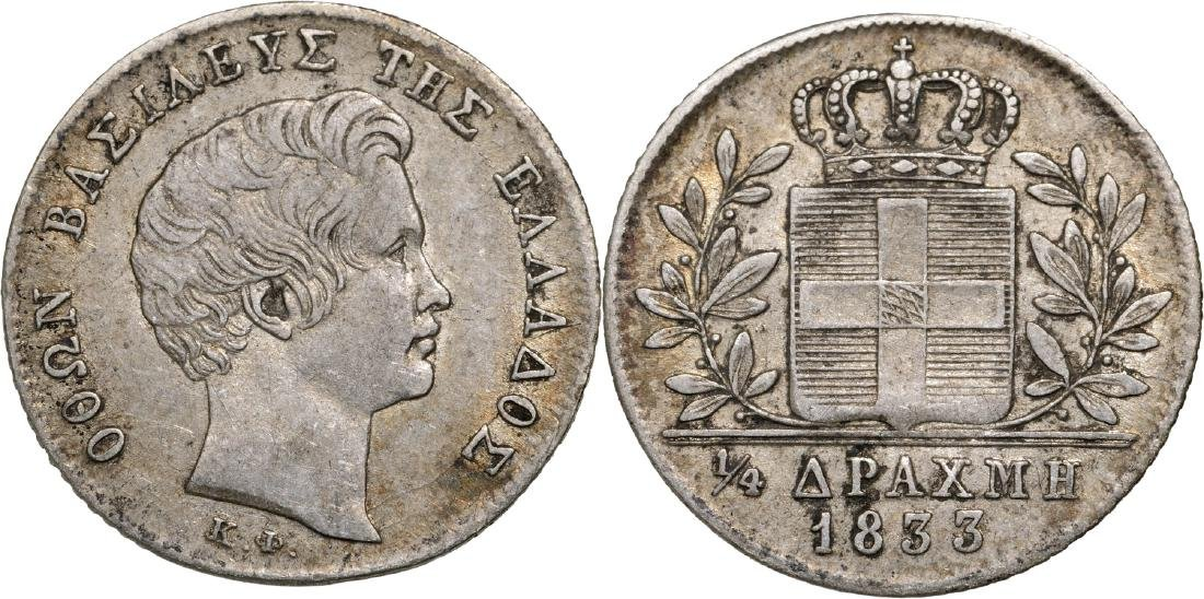 Otto I (1832-1862), 1/4 Drachm 1833