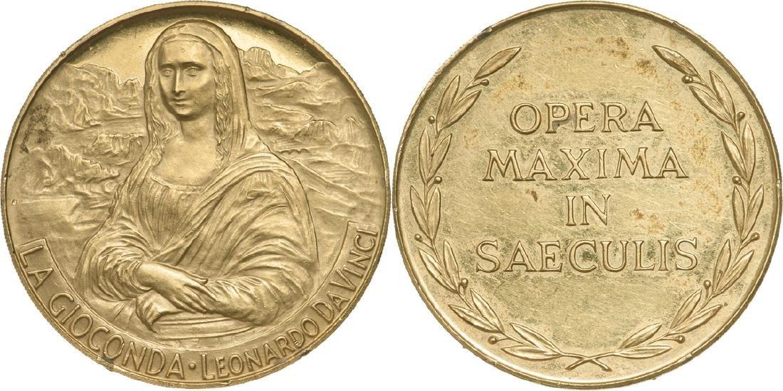 Leonardo Da Vinci-La Gioconda, Gold Medal