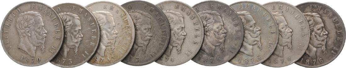 Lot of 9 Silver coins