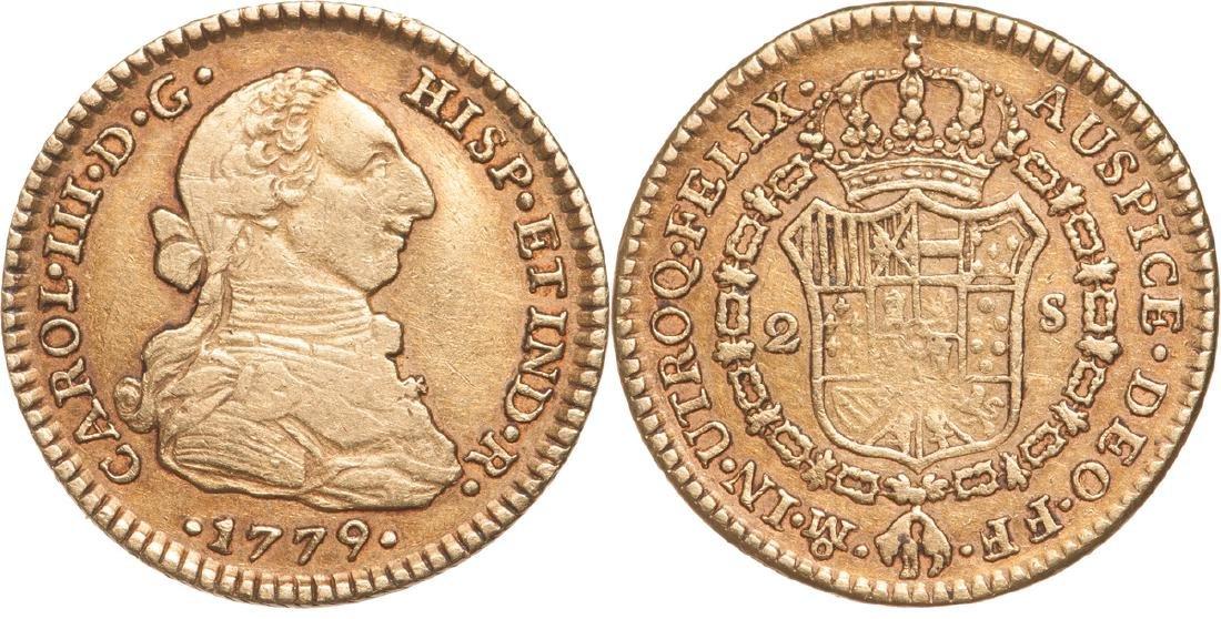 Carlos III (1759 - 1788), 2 Escudos 1779 FF