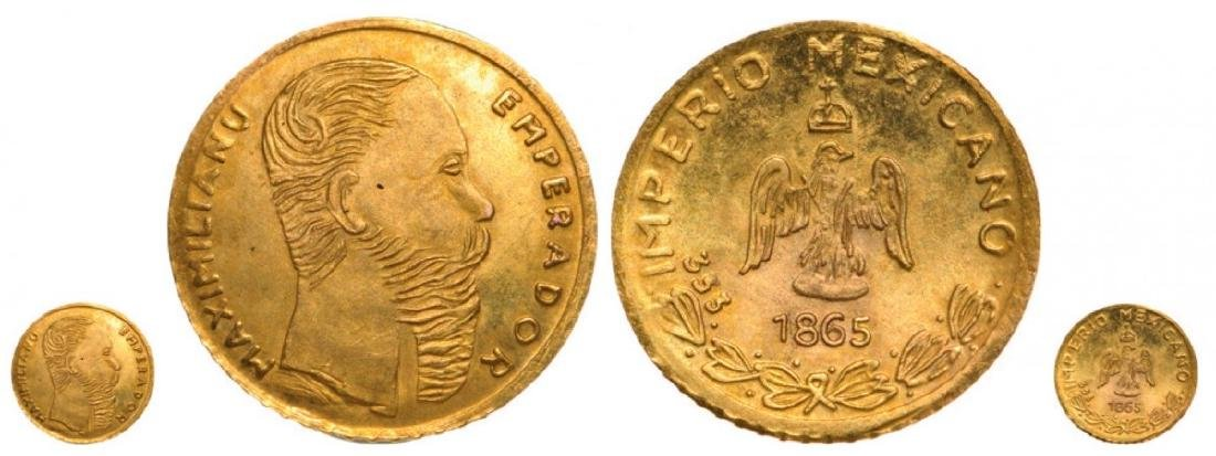 Maimilian I (1864-1867), Token 1865, Restrike. Gold