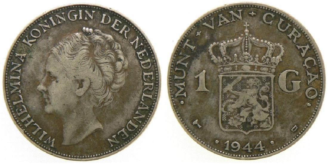 Wilhelmina I (1890-1948), Gulden 1944