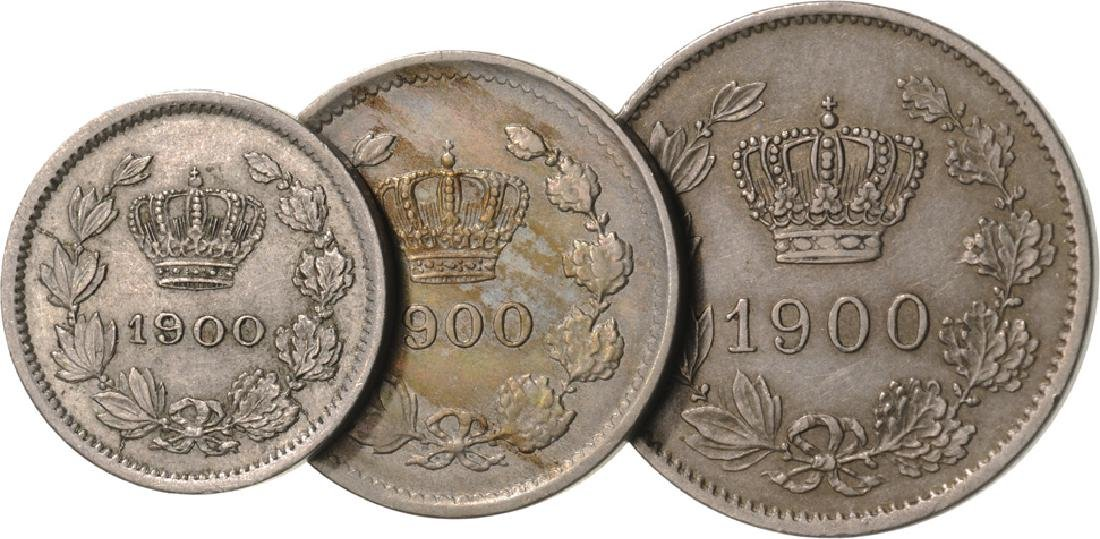 1900: 5 Bani, 10 Bani, 20 Bani, Bruxelles, Cu-Ni