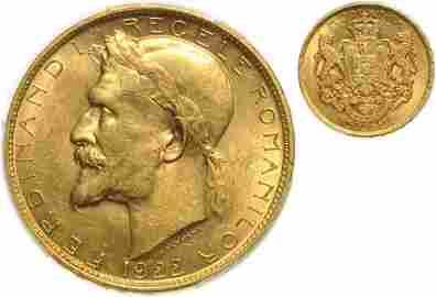 Ferdinand I, 100 Lei 1922, Coronation of Ferdinand I