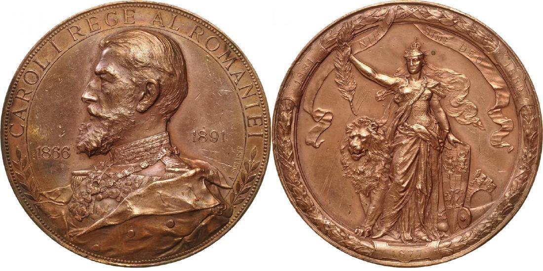 Carol I - Jubilee of Reign Medal 1866