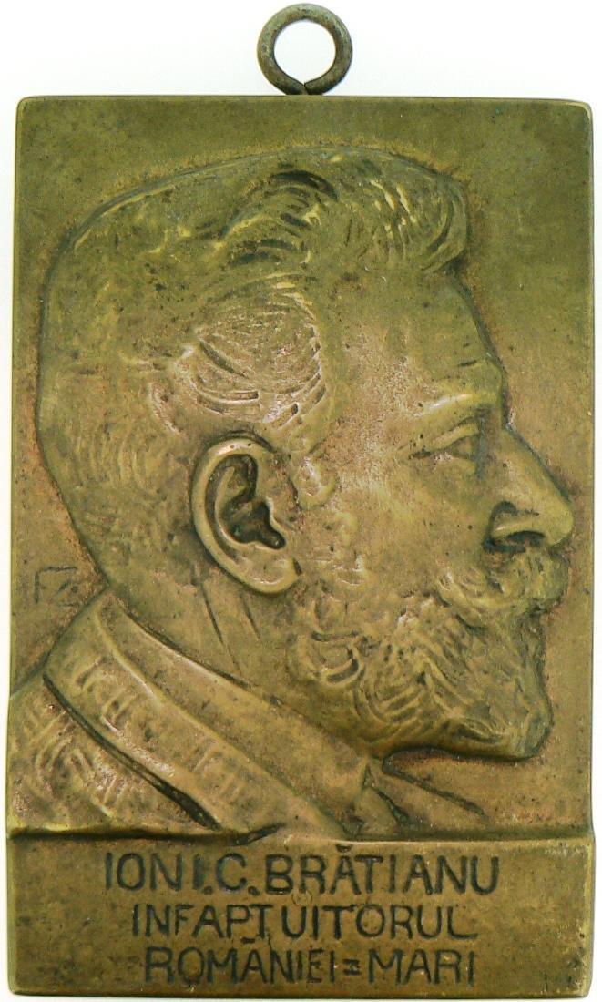 Ion I.C. Bratianu Bronze Plaquette