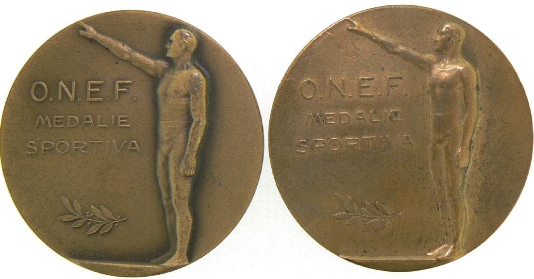 Lot of two ONEF Seniors Sport Medals