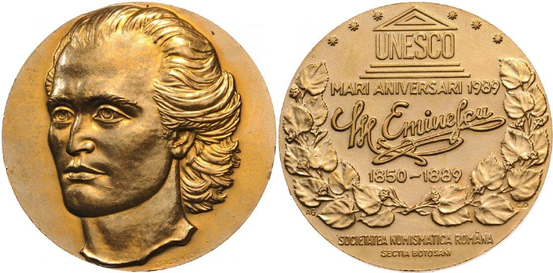 """Socialist Republic - Medal """"100 years from the death of"""