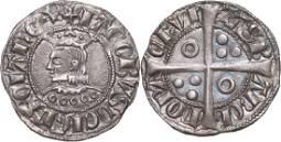 James II (1291-1327), Croat, Barcelona, Silver (3.1 g)