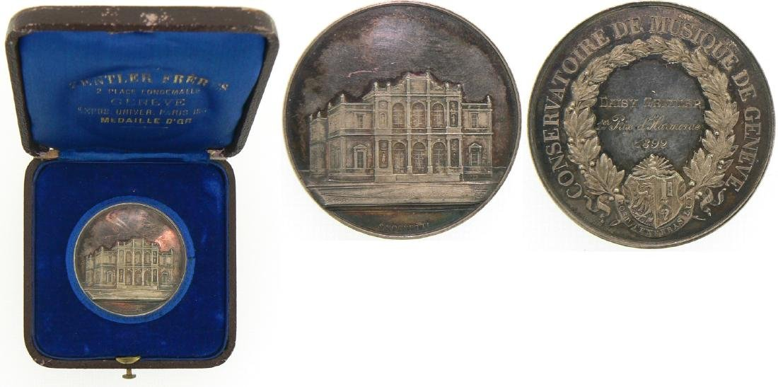 Medal 1892, Geneva Conservatory
