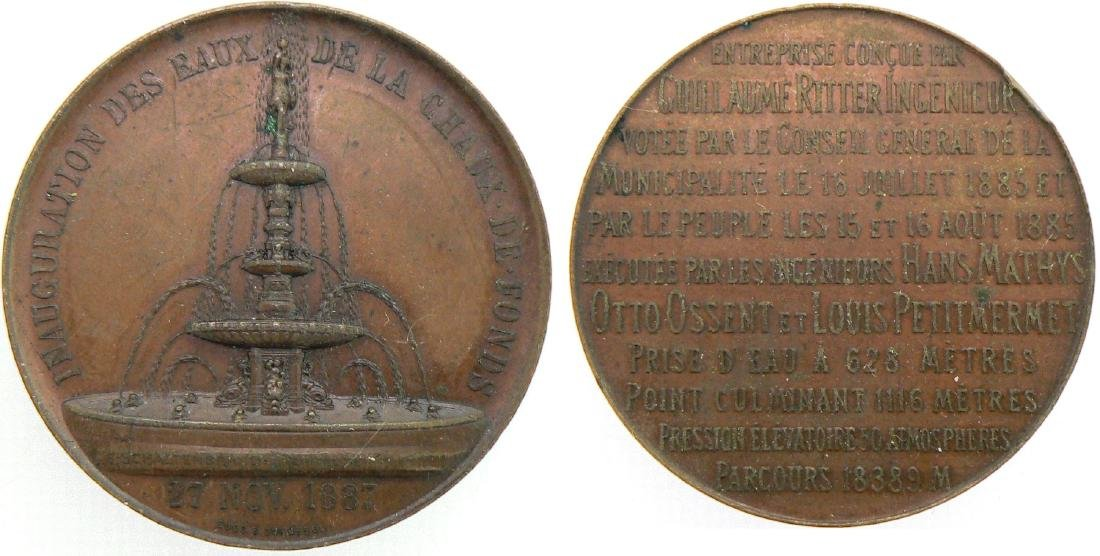 Neuchatel, Medal on the Inauguration Ceremony for the