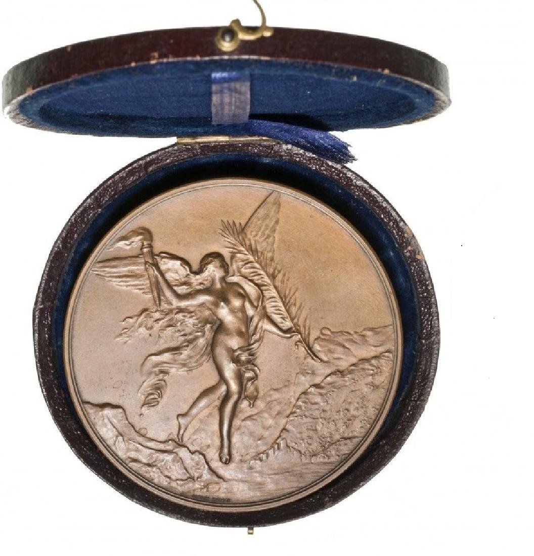 Bronze Medal (68,4 mm, 142.4 g), 1891. A. Dubois, 600