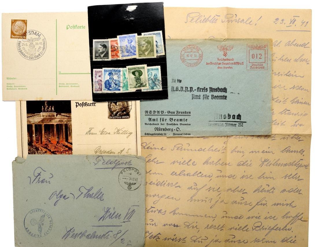 Interesting Lot of Propaganda Post cards etc