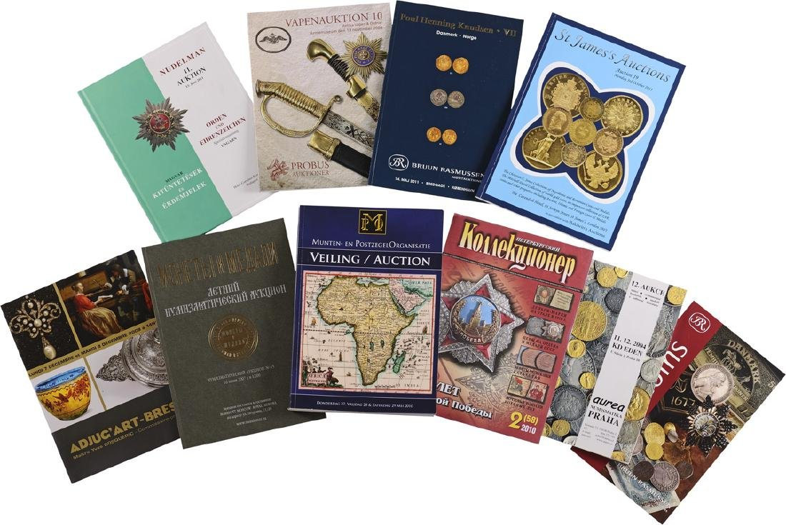 Lot of 10 different Auction Catalogues