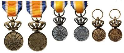 Lot of 3 MEDAL OF THE ORDER OF ORANGE NASSAU