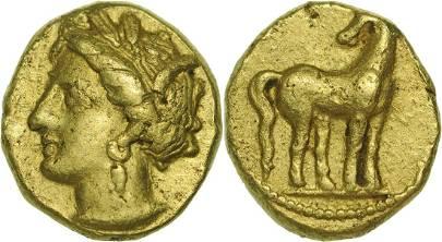 Zeugitania, Carthage (350-320 BC), 1/5 Stater