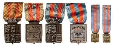 Lot of 3 Medal for Peace Duke of Caxias
