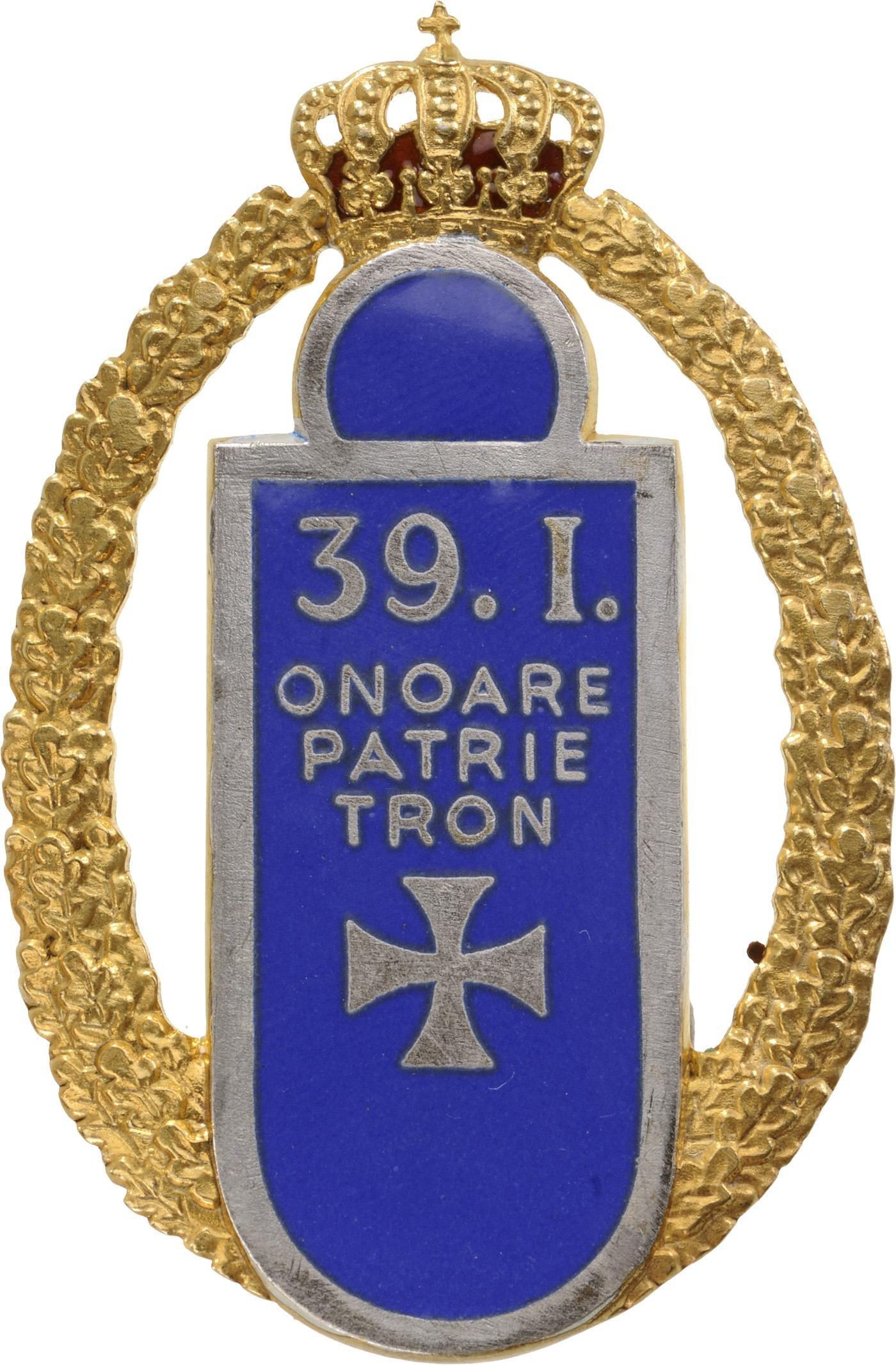 Badge of the 39th Infantry Regiment-Petru Rares