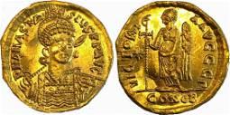 ANASTASIUS I (491-518), Solidus, Constantinople
