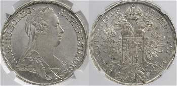 Maria Theresa (1740-1780), TS-IF. Taler, Günzburg.